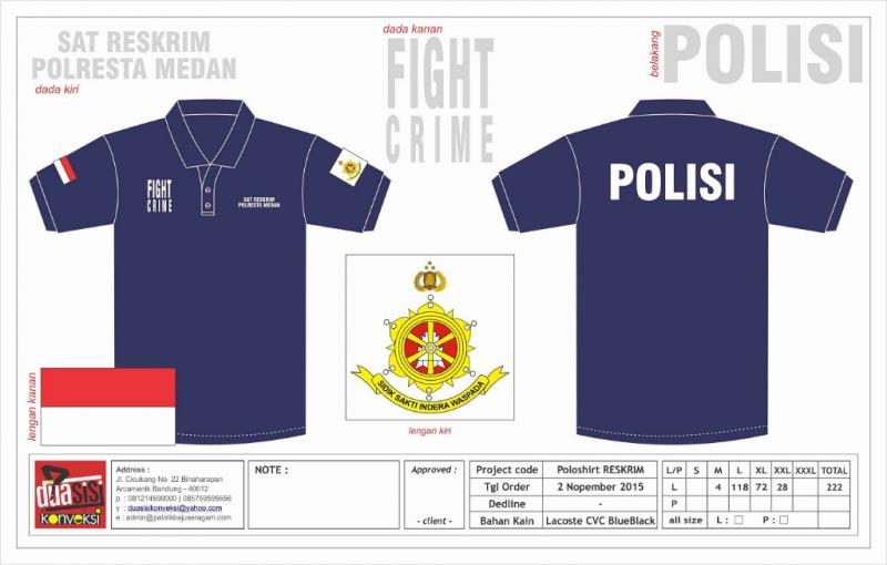 Kaos poloshirt turn back crime